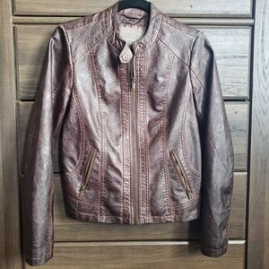 Maurices- Faux Leather Moto Jacket